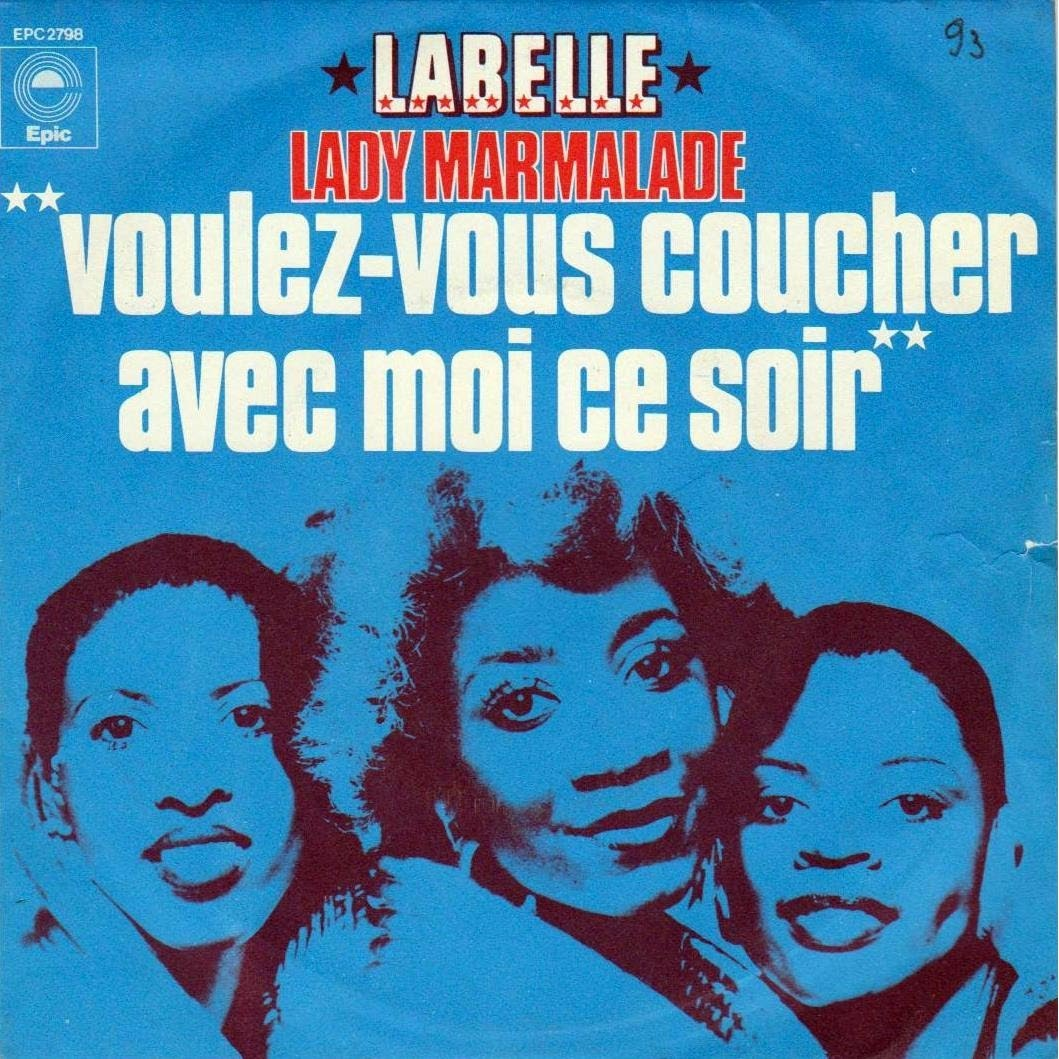 Did patti labelle really not know what lady marmalade - Translate voulez vous coucher avec moi ...