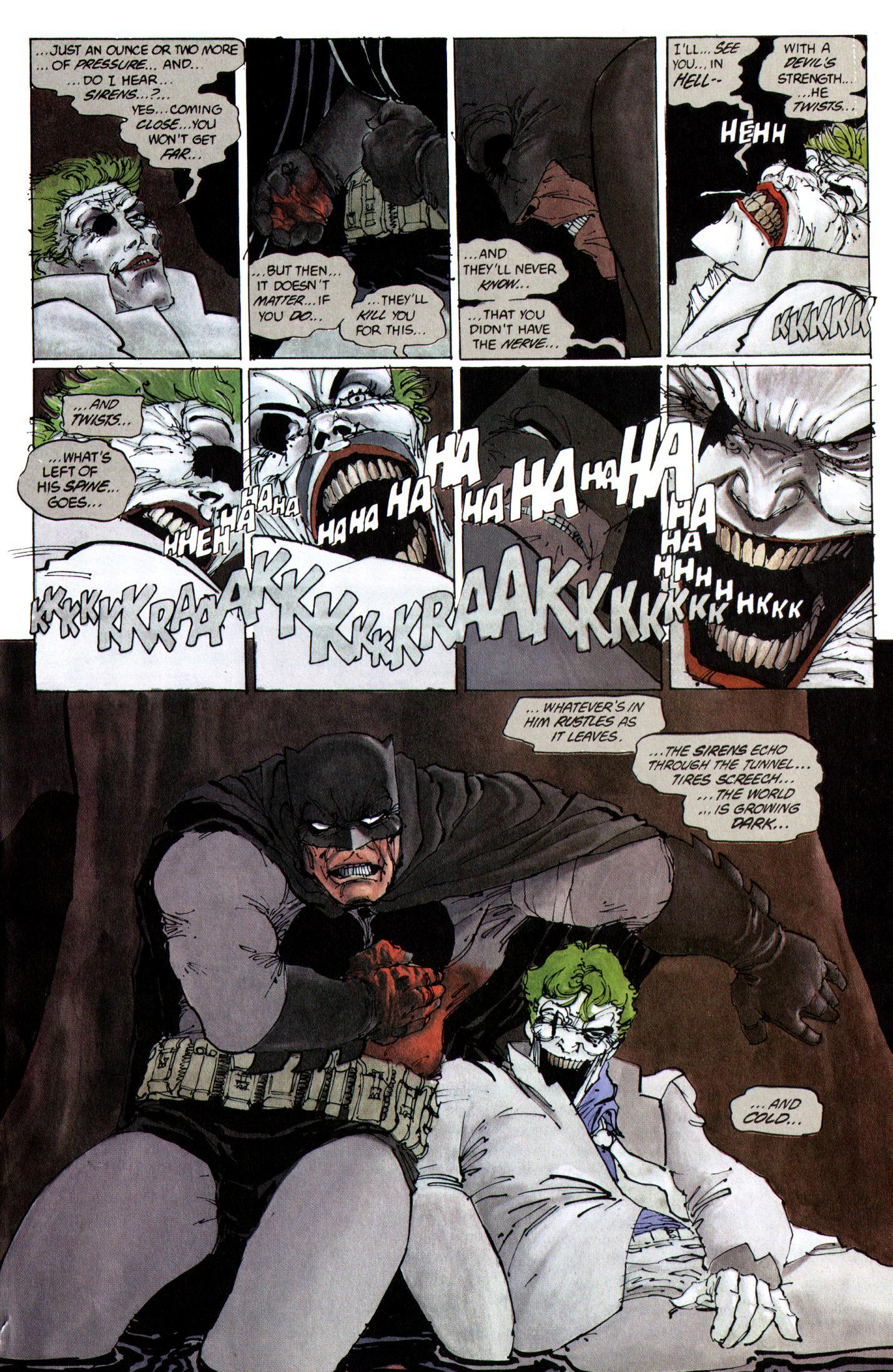 Image result for joker death scene dark knight returns